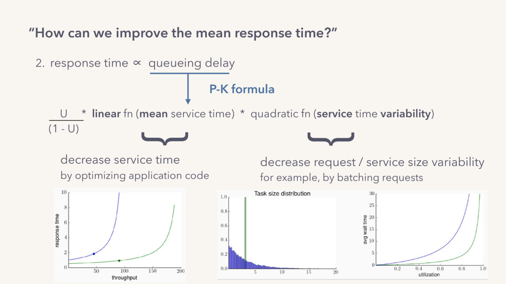 """How can we improve the mean response time?"" 2...."
