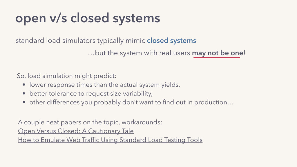 standard load simulators typically mimic closed...