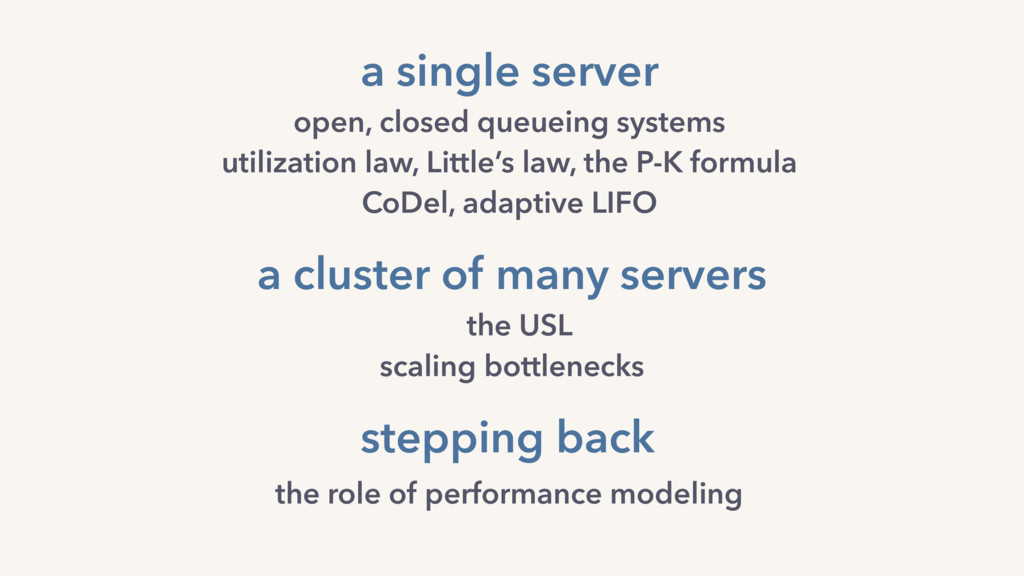 a cluster of many servers the USL scaling bottl...