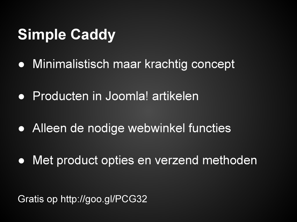 Simple Caddy ● Minimalistisch maar krachtig con...
