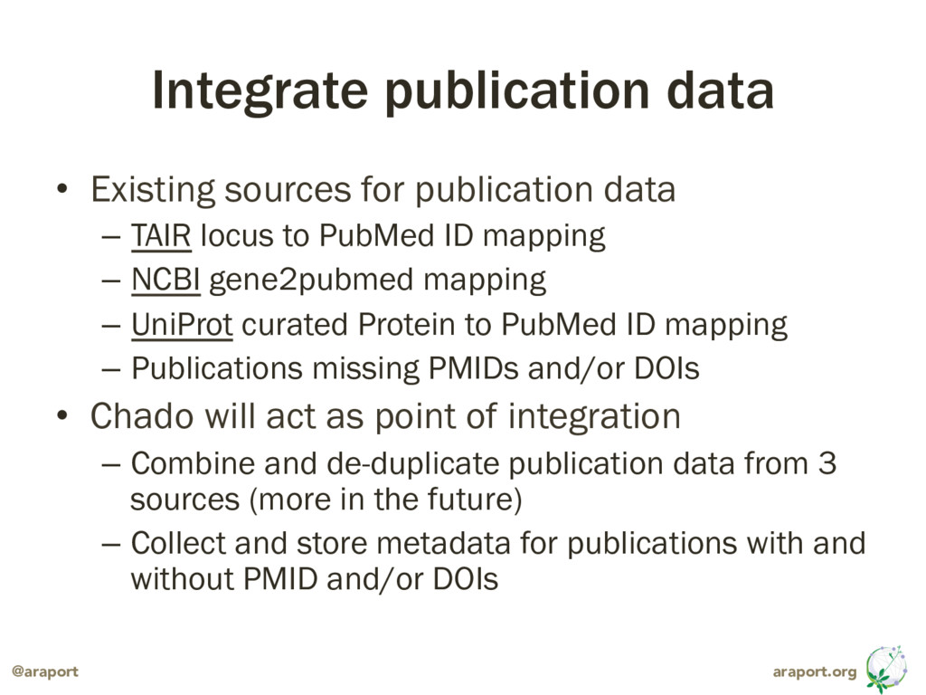 araport.org @araport Integrate publication data...