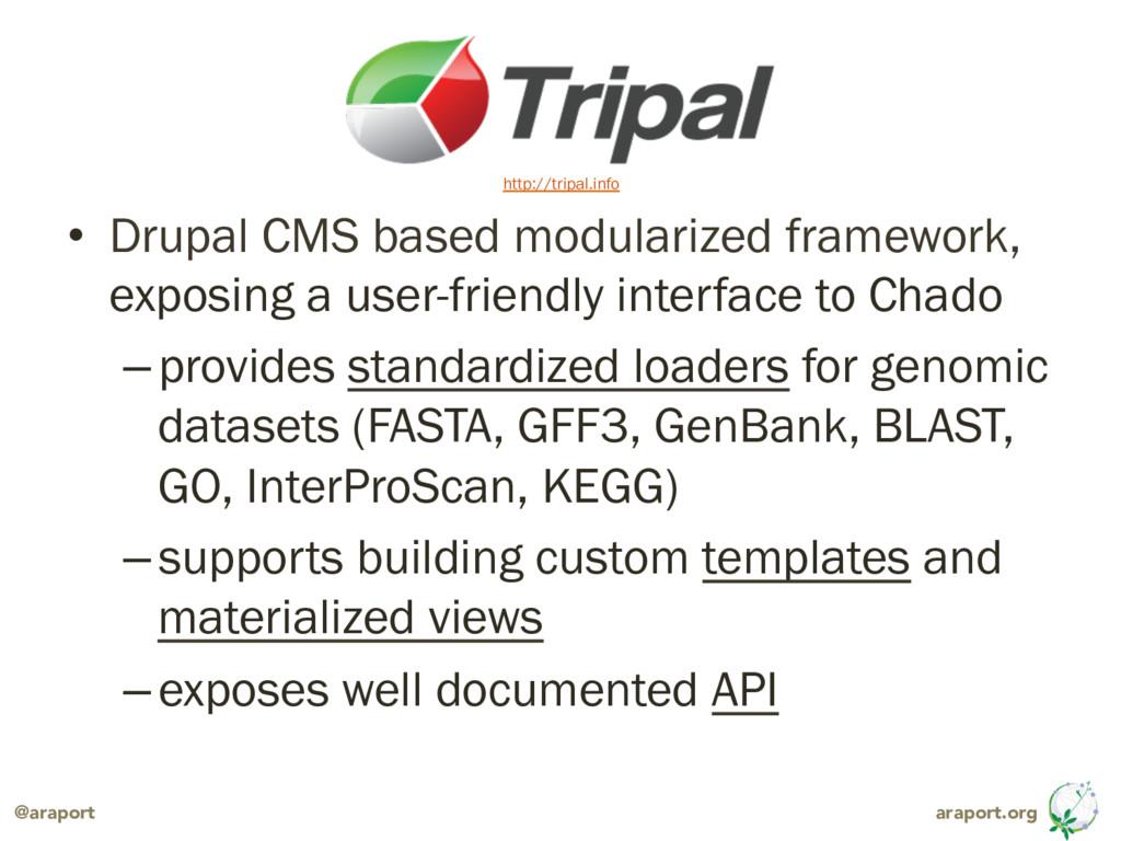 araport.org @araport • Drupal CMS based modula...