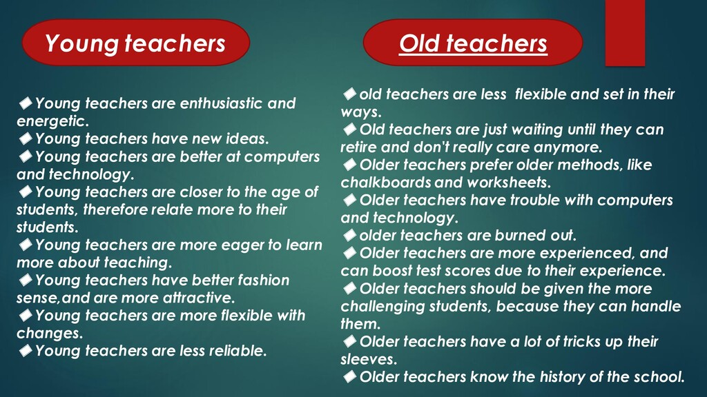 ◆ Young teachers are enthusiastic and energetic...
