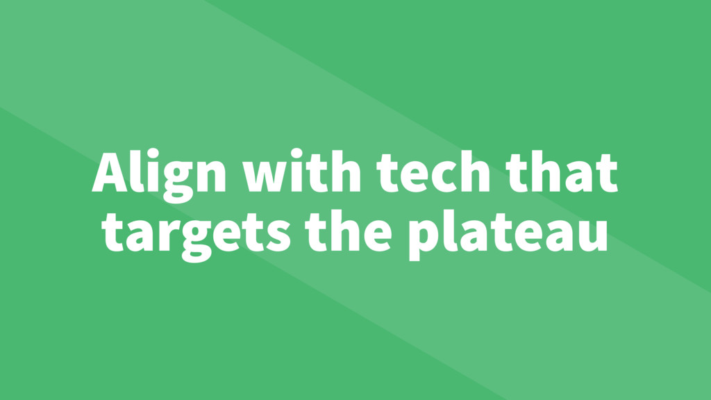 Align with tech that targets the plateau