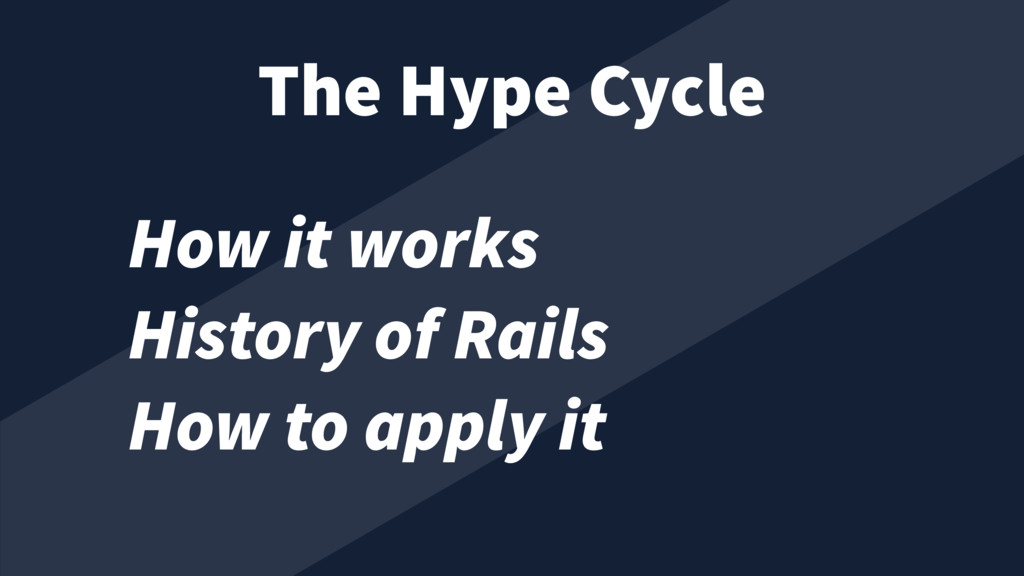 How it works History of Rails How to apply it T...