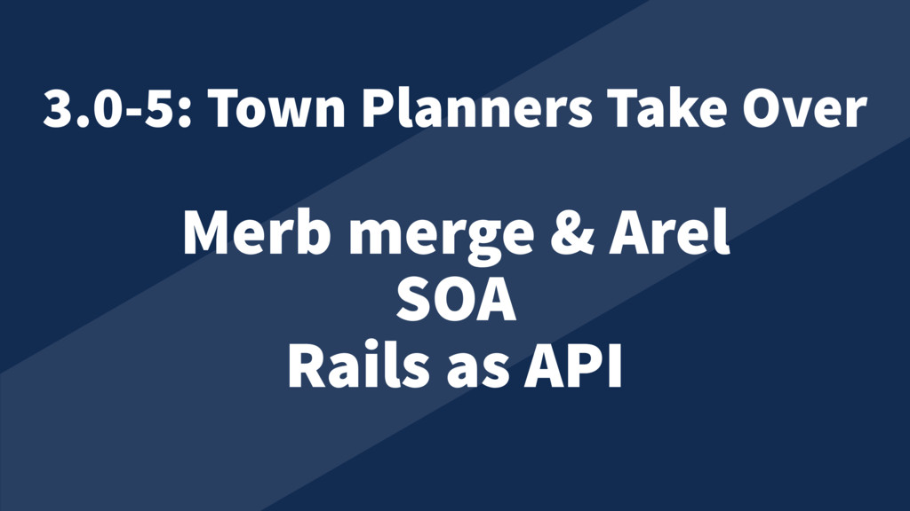 Merb merge & Arel SOA Rails as API 3.0-5: Town ...