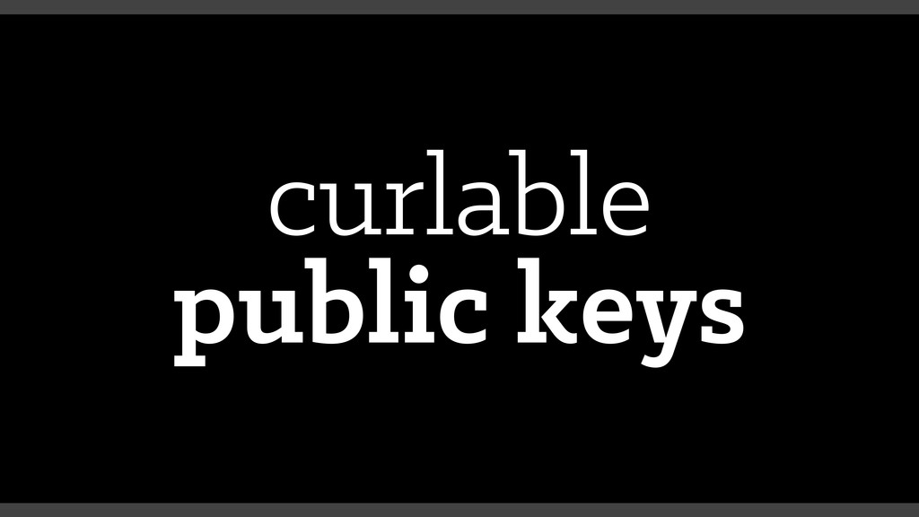 curlable public keys