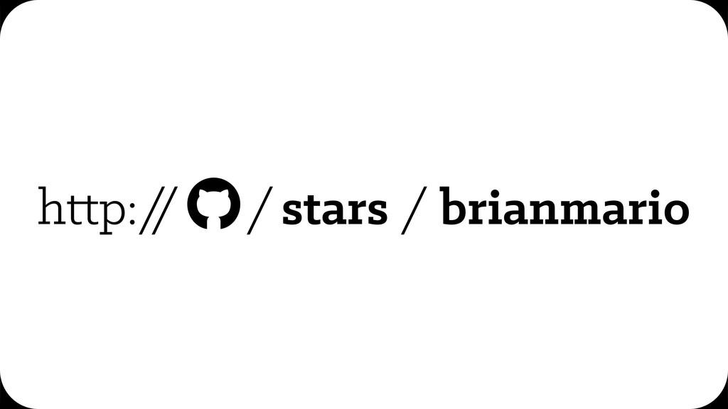 h p:/ / /stars / brianmario