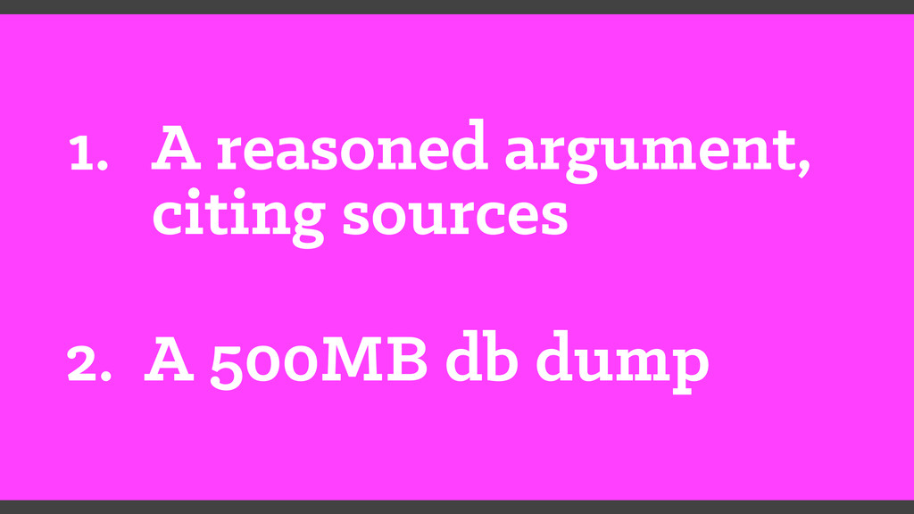 1. A reasoned argument, citing sources 2. A 500...