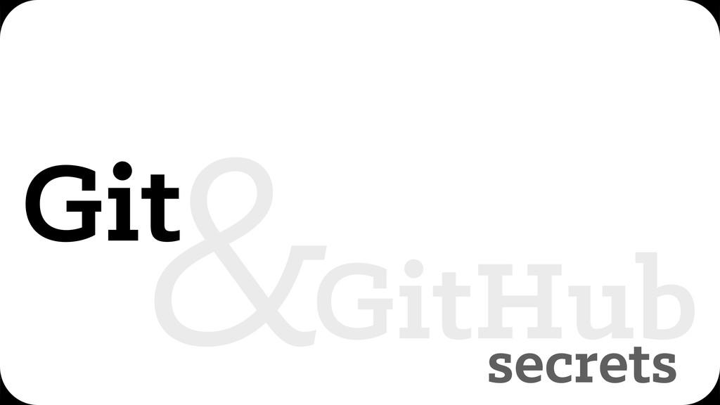secrets Git GitHub &