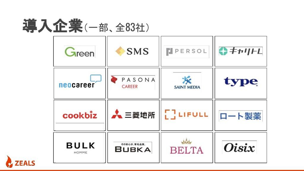 導入企業(一部、全83社)