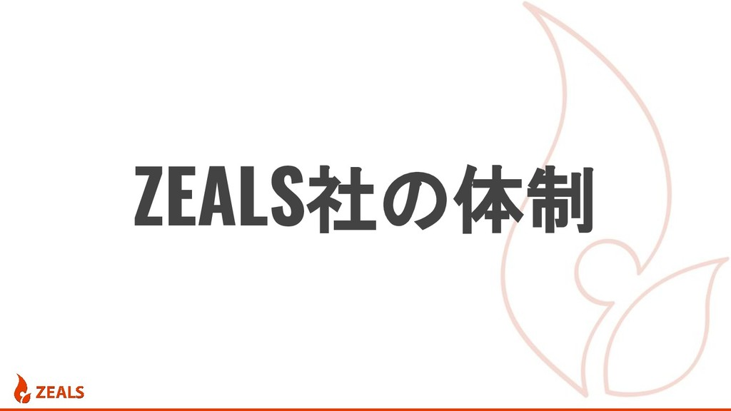 ZEALS社の体制