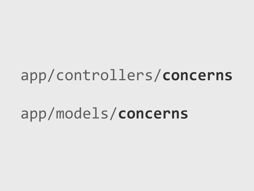 app/controllers/concerns app/models/concerns