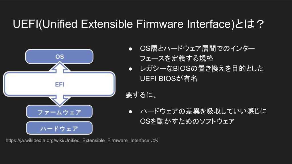 UEFI(Unified Extensible Firmware Interface)とは? ...