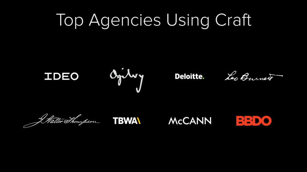 Top Agencies Using Craft