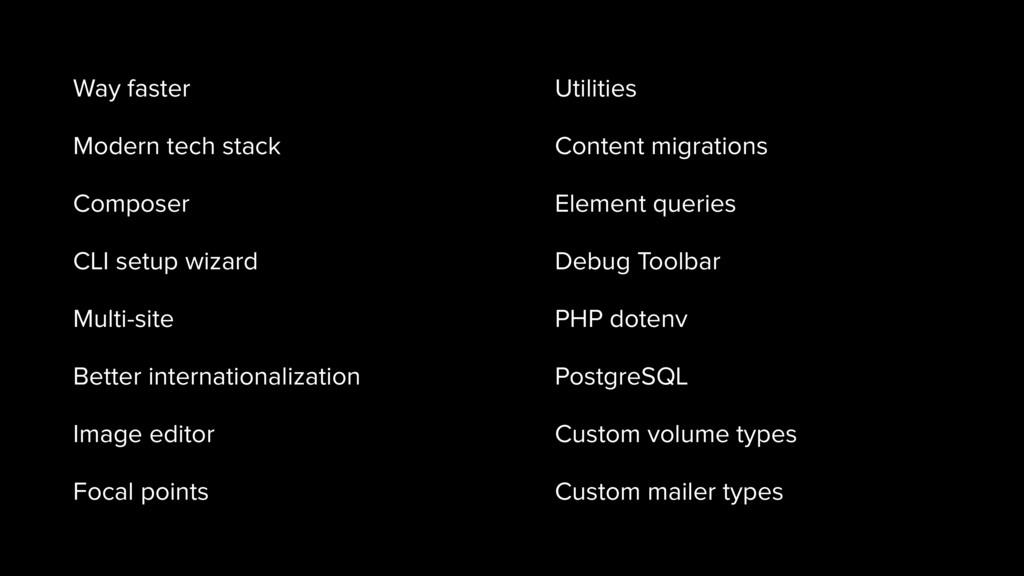 Way faster Modern tech stack Composer CLI setup...