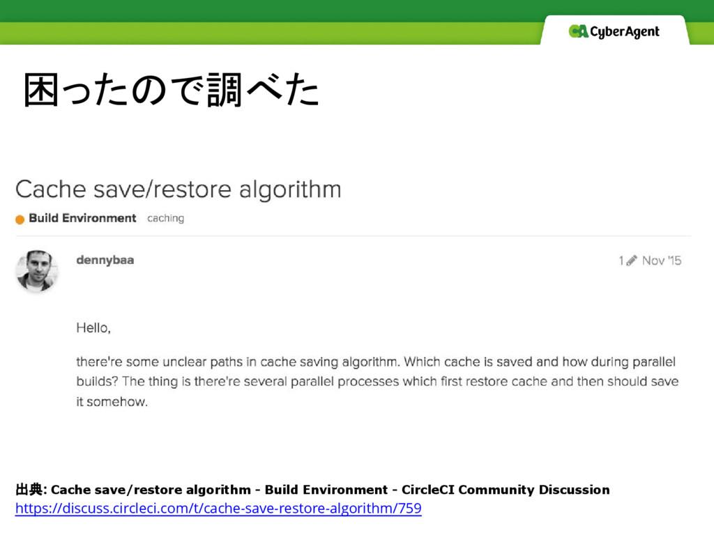 困ったので調べた 出典: Cache save/restore algorithm - Bui...