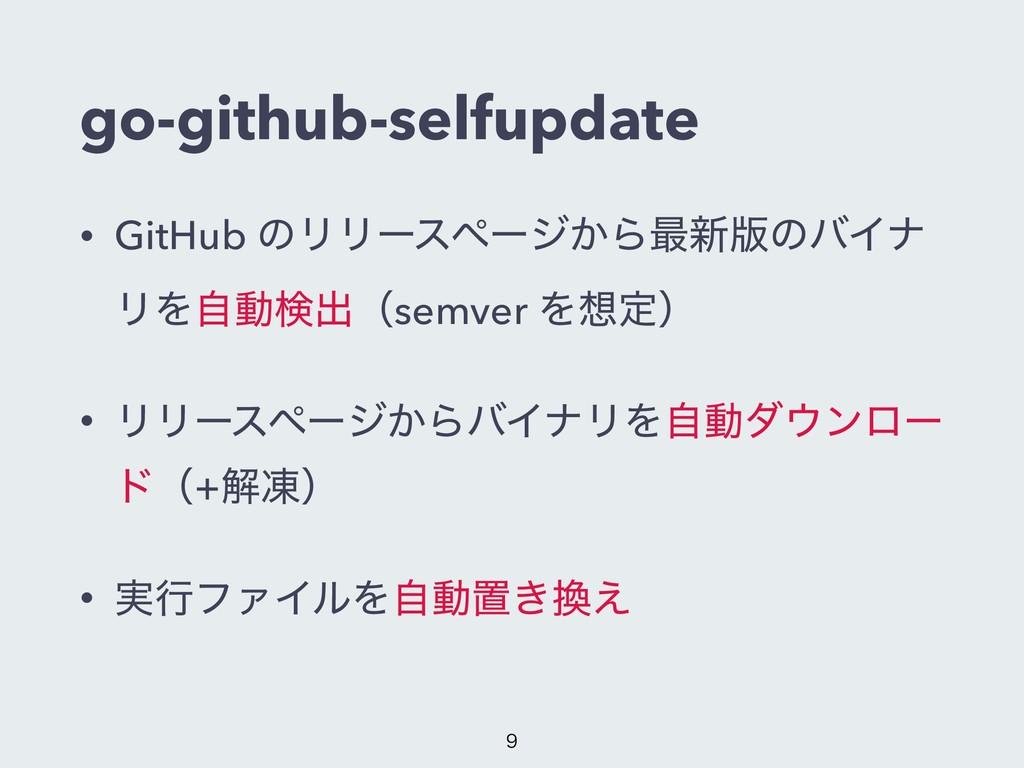go-github-selfupdate • GitHub ͷϦϦʔεϖʔδ͔Β࠷৽൛ͷόΠφ...