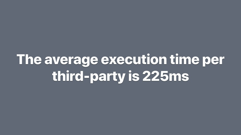The average execution time per third-party is 2...