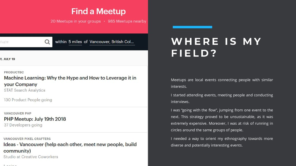 Meetups are local events connecting people with...