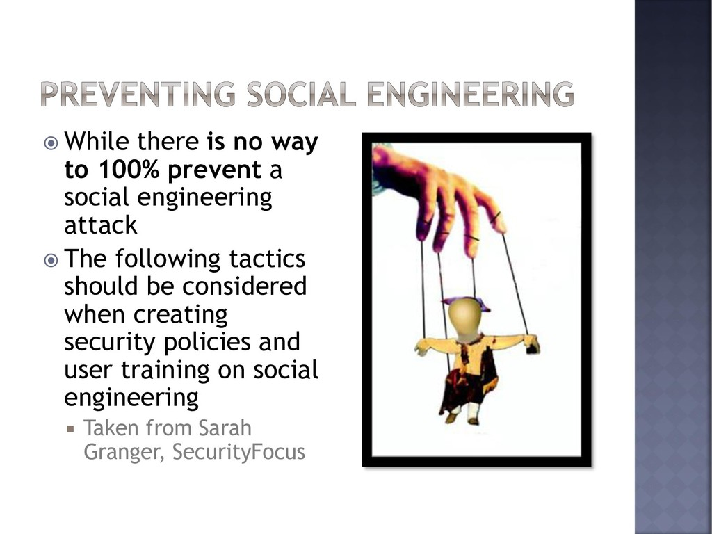  While there is no way to 100% prevent a socia...