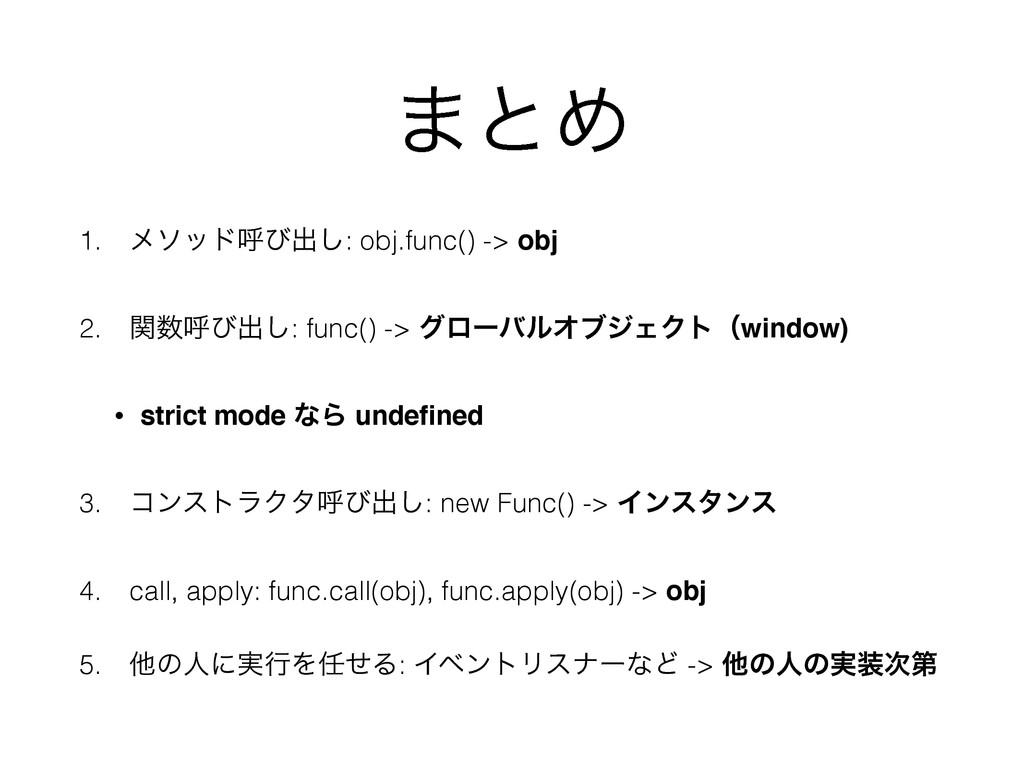 ·ͱΊ 1. ϝιουݺͼग़͠: obj.func() -> obj 2. ؔݺͼग़͠: f...