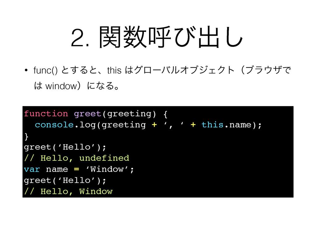 2. ؔݺͼग़͠ function greet(greeting) { console.lo...