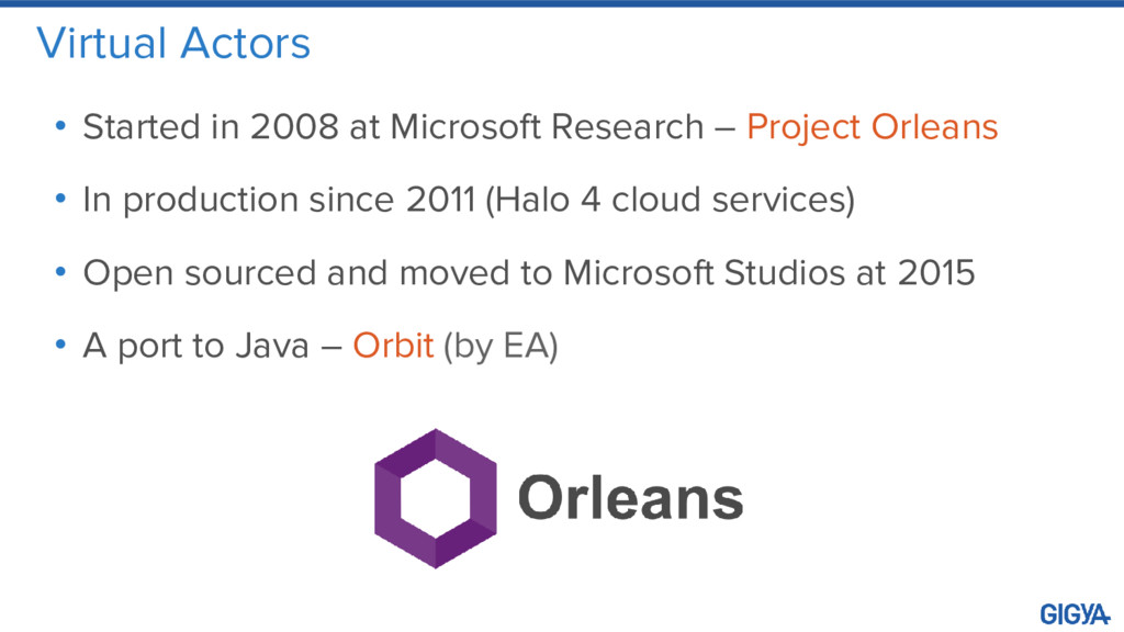 Virtual Actors • Started in 2008 at Microsoft R...