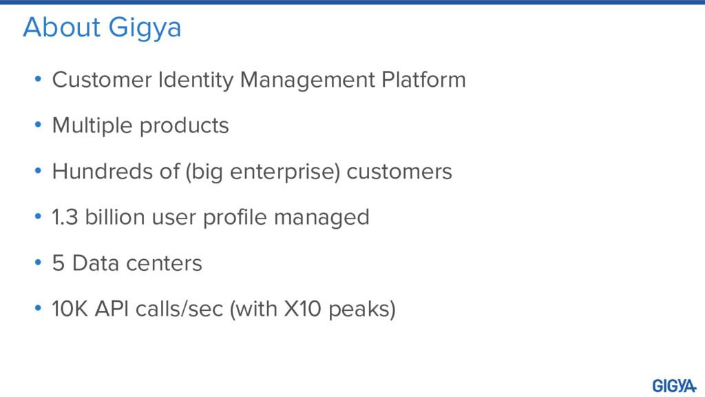 About Gigya • Customer Identity Management Plat...