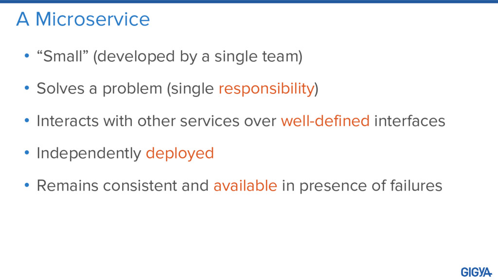 """A Microservice • """"Small"""" (developed by a single..."""