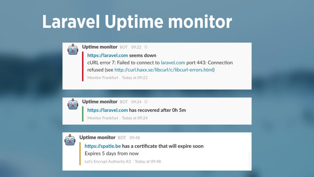 Laravel Uptime monitor