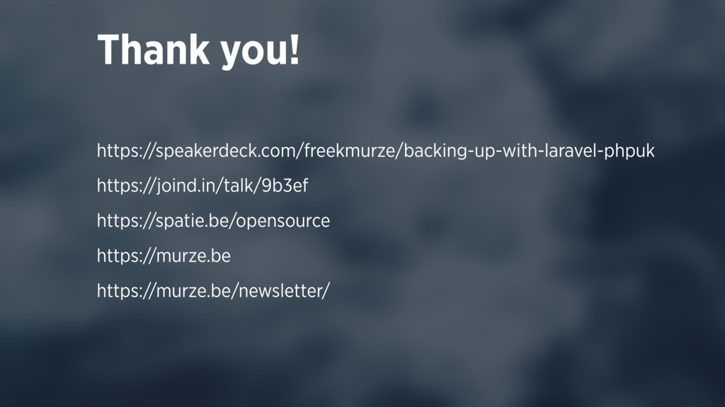 Thank you! https://speakerdeck.com/freekmurze/b...