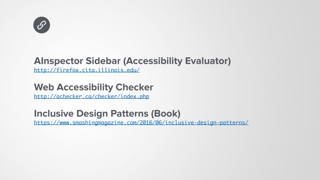 AInspector Sidebar (Accessibility Evaluator) h...