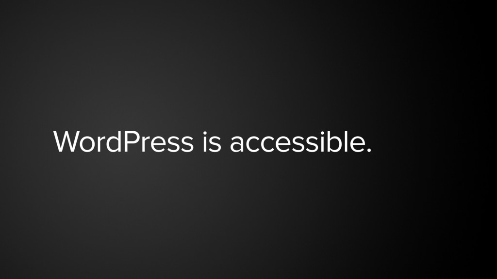 WordPress is accessible.