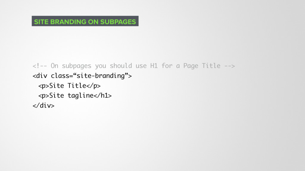 <!-- On subpages you should use H1 for a Page T...