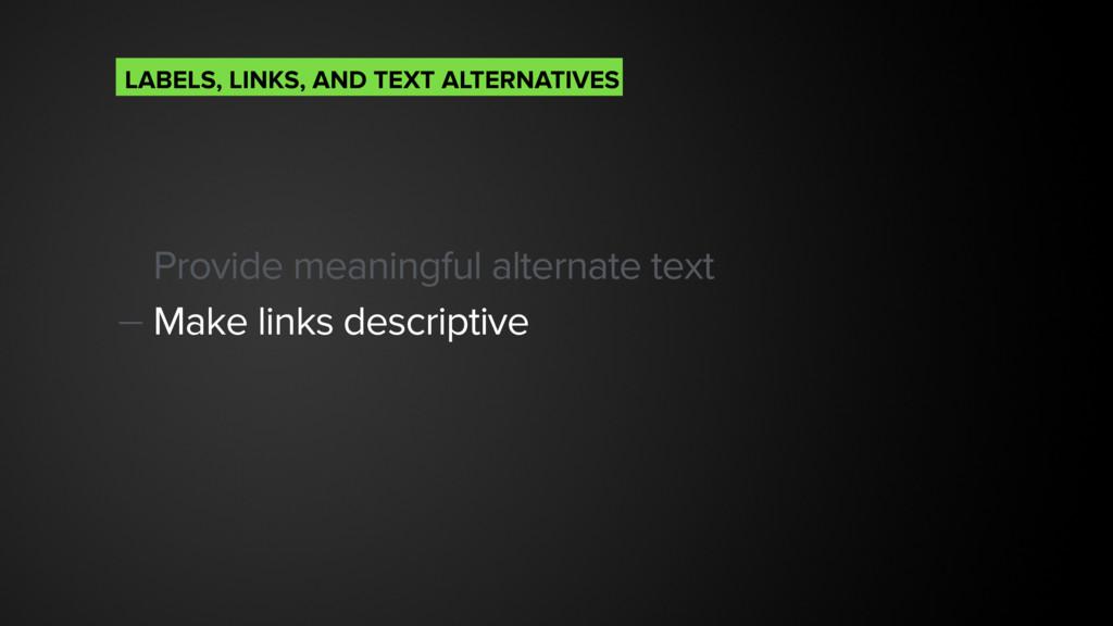 Provide meaningful alternate text — Make links ...