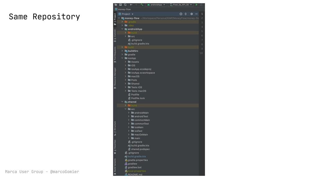Marca User Group - @marcoGomier Same Repository