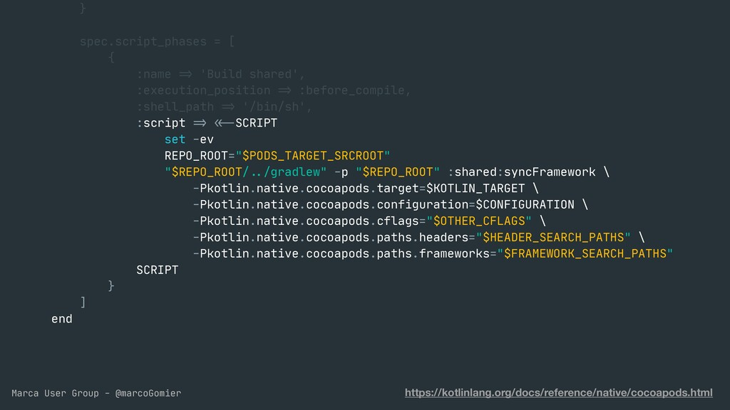 Marca User Group - @marcoGomier }  spec.script_...
