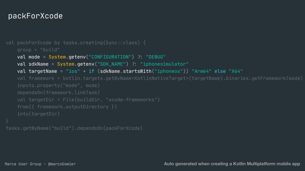 Marca User Group - @marcoGomier packForXcode Au...