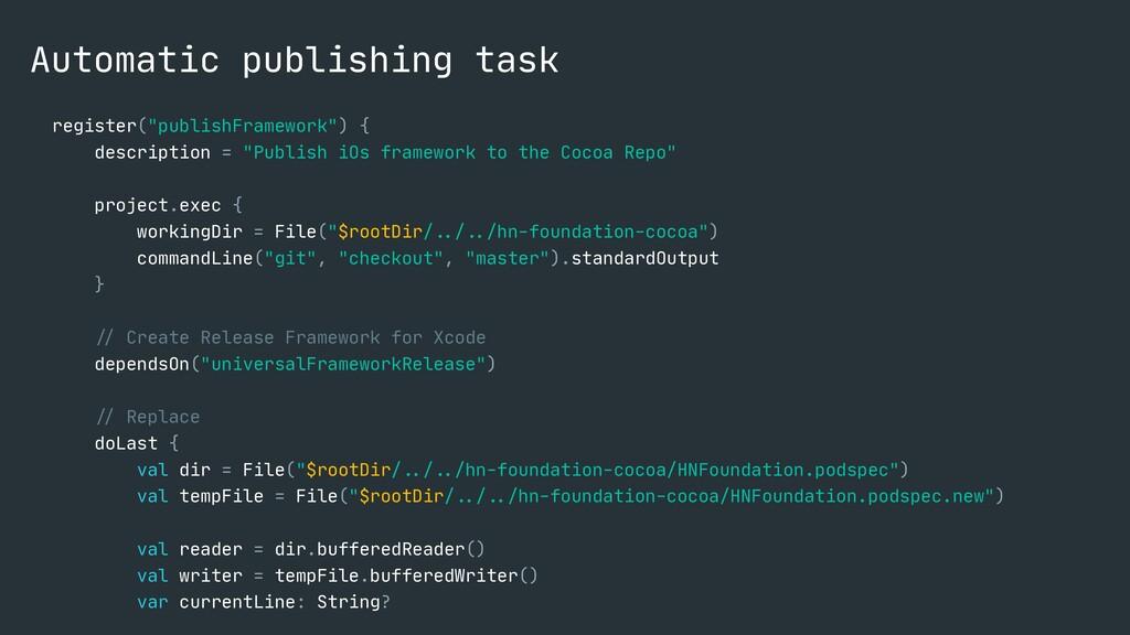 """Automatic publishing task register(""""publishFram..."""