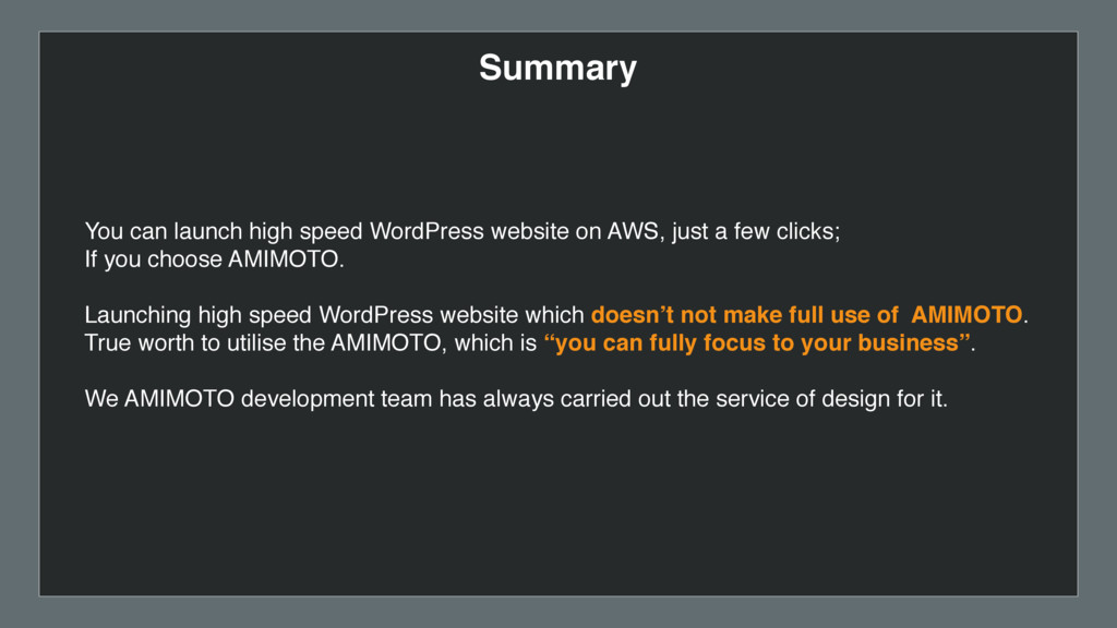 Summary You can launch high speed WordPress web...