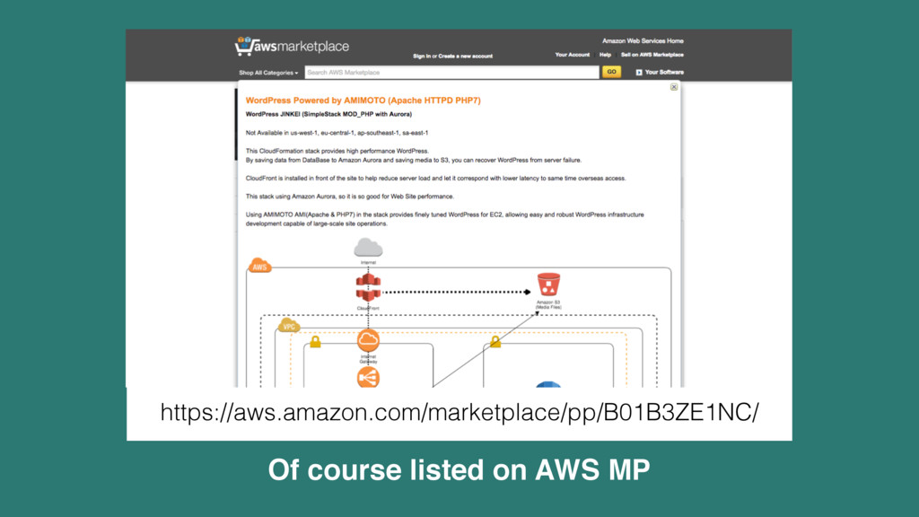 Of course listed on AWS MP https://aws.amazon.c...
