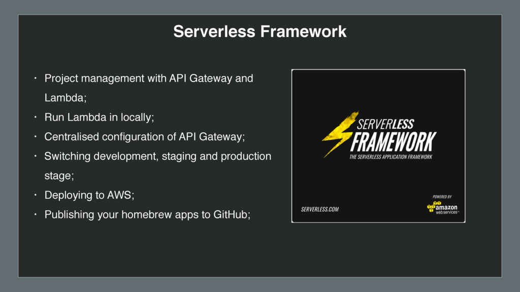 • Project management with API Gateway and Lambd...