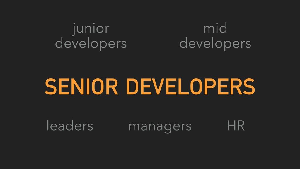 SENIOR DEVELOPERS junior developers mid develop...