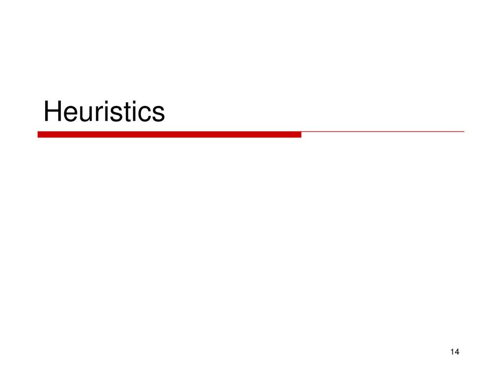 Heuristics 14