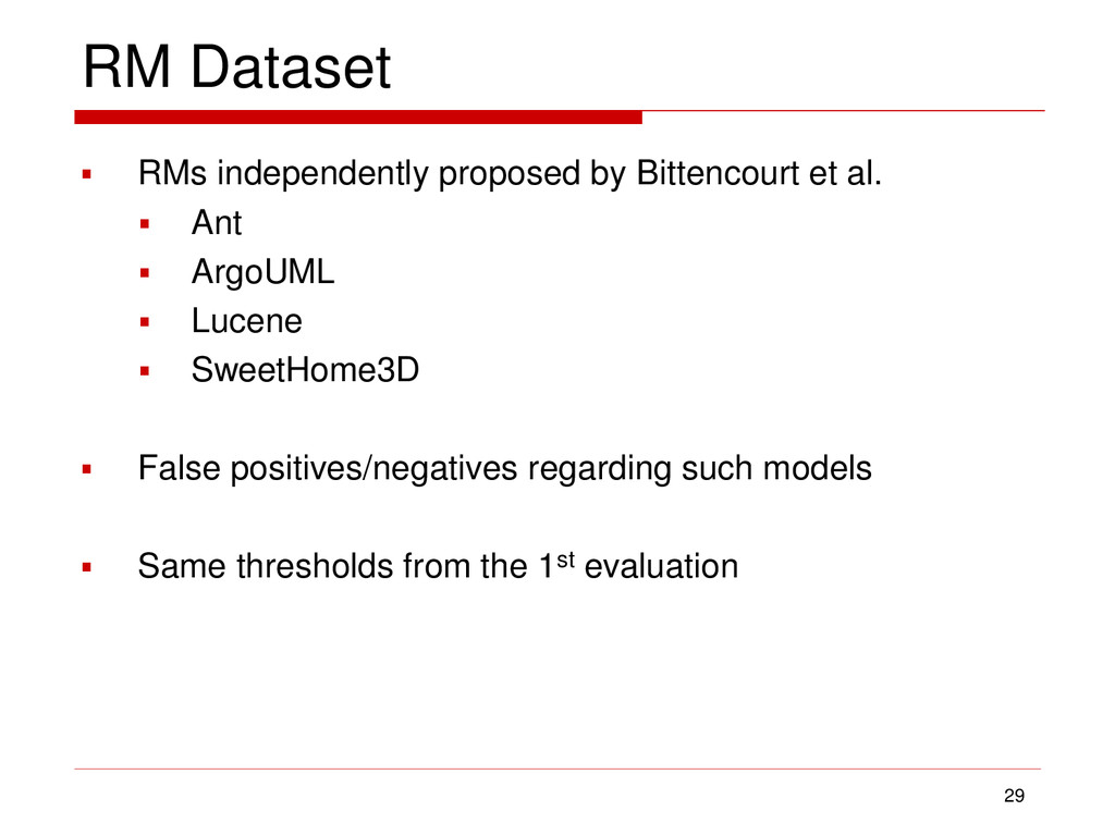 RM Dataset  RMs independently proposed by Bitt...