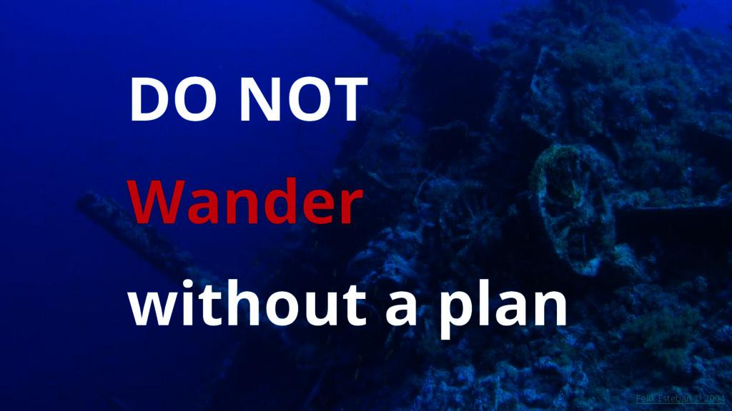 DO NOT Wander without a plan Felix Esteban © 20...