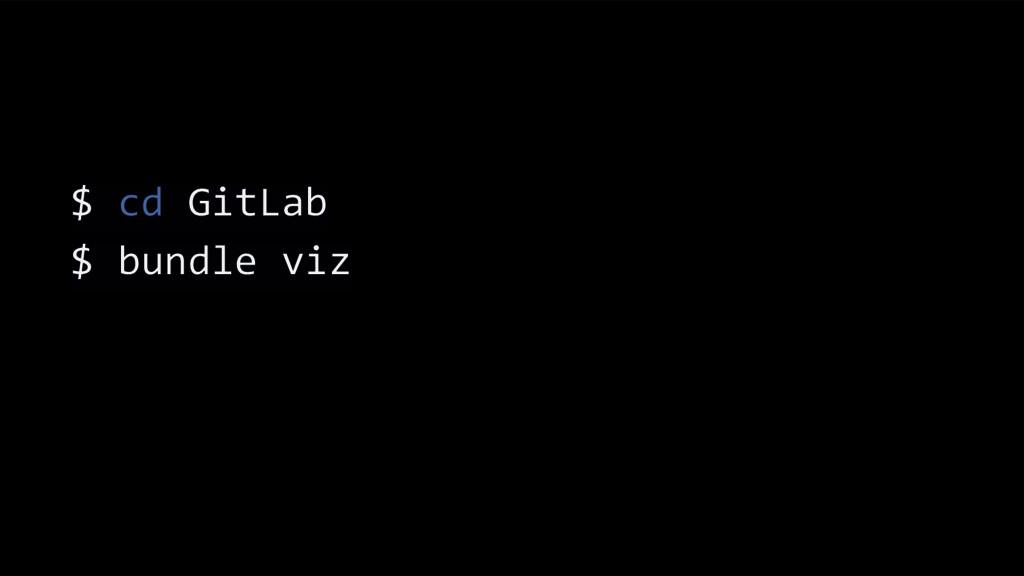 $ cd GitLab $ bundle viz