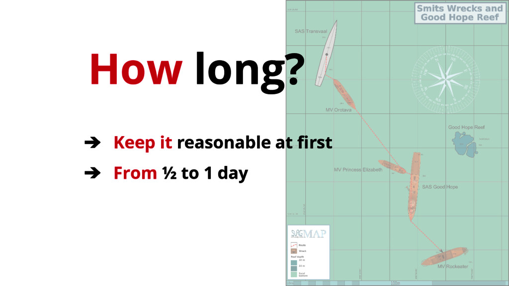 How long? ➔ Keep it reasonable at first ➔ From ...