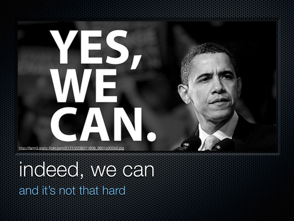 indeed, we can and it's not that hard http://fa...
